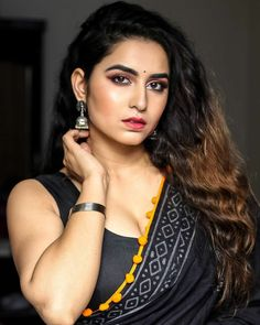 These silver metal bangles are completing my ethnic look for this summer and I am also defining my eyes using miss claire eye eyeshadow palette. Beautiful Girl Indian, Most Beautiful Indian Actress, Beautiful Girl Image, Beautiful Saree, Beautiful Gorgeous, Beautiful Women, Beauty Full Girl, Cute Beauty, Beauty Women