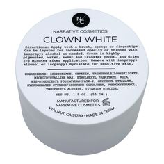 Quick Drying Clown White Cream Makeup