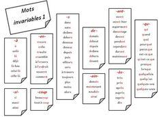 Listes de mots invariables classés par difficulté orthographique