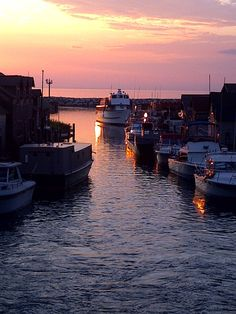 Fishtown at Sunset, Leland on the Leelanau Peninsula
