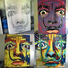 "Salvador Dali painting. My art. ""The People"" exhibition. Urszula Kaminska"