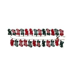 Stocking Countdown Banner ($17) ❤ liked on Polyvore featuring home, home decor, holiday decorations, threshold home decor, colorful home decor, reindeer christmas stocking, holiday home decor and holiday decor