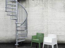 Escalier en colimaçon / marche en métal / structure en acier / sans contremarche