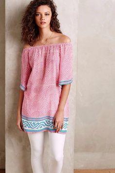 ANTHROPOLOGIE SZ Medium M NEW $148 Tolani Kazumi Silk Tunic Womens Dress Pink  #Anthropologie #Tunic #Casual