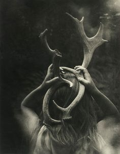 Image result for girl with antlers