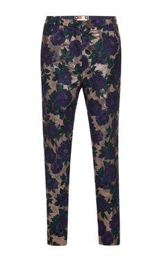 Rose Lurex Brocade Trousers by MSGM - Moda Operandi