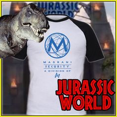 Jurassic World Security T-Shirt Screenprinted By Hand