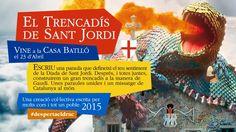 EL TRENCADÍS DE SANT JORDIL'essència de la diada de Sant Jordi roman inalterable any rere any; però només hi ha un indret de la ciutat de Barcelona que representa la fidel representació de la llegenda: la Casa Batlló  Vine a viure la llegenda de Sant Jordi a la Casa Batlló i #DespertaElDrac construint un meravellós mosaic  El 23 d'abril, Catalunya és un mar de sentiments i emocions; un dia en el que la ciutat de Barcelona cobra vida i es vesteix amb roses i llibres per celebrar l'amor.  La…