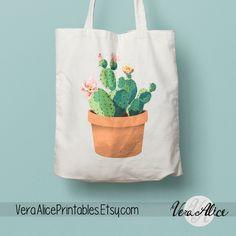 Cactus Tote bag | Travel Tote Bag | White Tote Bag | Gym tote Bag | Canvas Tote | Typography Tote Bag | Beach tote Bag| Canvas Tote Bag