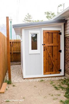 Lean To Shed How to Install Siding & Trim on a ShedDo you need another place to store your yard tools? It's time for a shed and here is how to install siding and trim Backyard Sheds, Outdoor Sheds, Lean To Roof, Le Hangar, Diy Storage Shed, Storage Ideas, Storage Shed Decorating Ideas, Shed Construction, Cheap Sheds