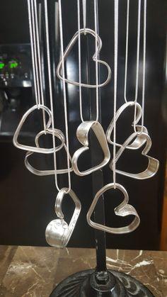 Flirting hearts from Ice teaspoons Silver Spoon Jewelry, Fork Jewelry, Crystal Jewelry, Metal Jewelry, Beaded Jewelry, Vintage Jewelry, Jewelry Crafts, Jewelry Art, Spoon Art