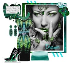 """""""Green with Envy II"""" by court8434 ❤ liked on Polyvore"""