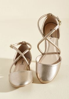 Crisscross Paths Flat. Whether you specifically sought out these gold flats or…
