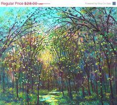 prints 25% off thru Mon. Large Premium Print from original painting-Branches through the Sunshine 12 x 18 Vadal
