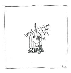 printable download pentekening pen drawing mus sparrow by TheresaSketchbook on Etsy