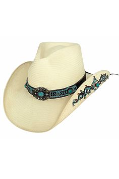 Bullhide Women's Sweet Seduction Shantung Panama Straw Cowgirl Hat #summer #beach #concert