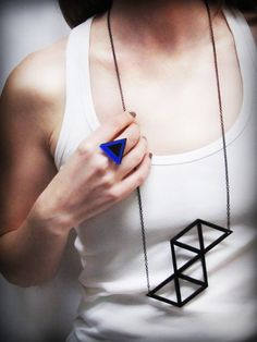 Items similar to Trendy geometric statement necklace, minimalist and edgy acrylic jewelry on metal chain_Spring Summer on Etsy Geometric Necklace, Metal Chain, Aud, Laser Cutting, 3d Printing, Arrow Necklace, Loft, Spring Summer, Minimalist