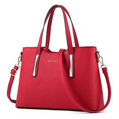 TSRHFGT Women Faux Leather Handbag Top-handle Bag Fashion Shouder Bag Simple Purse Cross-body Bag Wine Red - http://leather-handbags-shop.com/tsrhfgt-women-faux-leather-handbag-top-handle-bag-fashion-shouder-bag-simple-purse-cross-body-bag-wine-red/