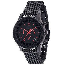 DETOMASO FIRENZE Mens Watch Chronograph Stainless Steel Black Mesh  Milanaise New Black Mesh ce2a16922b3