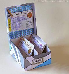 Rezeptbox, selber machen, DIY, Rezept, free printable, Format, Download, kostenlos, Karten, Rezeptkarten, Vorlage, DIN A6, Karteikarten, Karteibox, Aufbewahren, Basteln, einfach, schnell, kostenlos, günstig, Kochen, Küche, Drucken auf DIN A6 Karteikarten, Anleitung, Tutorial