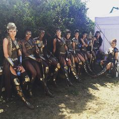 Just a group of Amazons hanging in the shade waiting for one of the boys to come get us.