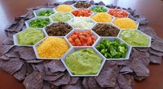 Settlers of Catan Nachos Will Provide Your Super Bowl Party with the Strategic Bartering It Needs Nacho Bar Party, Taco Bar, Nacho Taco, Nachos, Settlers Of Catan, The Settlers, Guacamole, Mexican Food Recipes, Snack Recipes