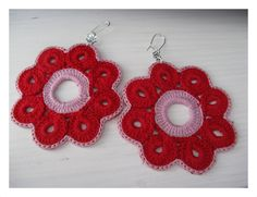 Crochet Flowers, Crochet Earrings, Silver, Clothes, Jewelry, Fashion, Outfits, Moda, Clothing