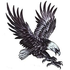 1+Pcs+Waterproof++Multicolored++Large+Color+Map++Eagle++Pattern++Tattoo+Stickers+–+USD+$+1.89