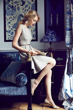 Shimmered Tweed Dress #anthropologie