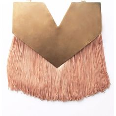 Little Lucia necklace - base metal, gold plated and silk fringes (in short or large version, variety of colours)  - 269€