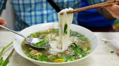 Pho has a rich role in Vietnamese, Vietnamese-American, and now, American culture. That's why a video featuring a white chef explaining how to eat pho as the next trendy food angered so many. How To Eat Pho, Lucky Peach Magazine, Pho Noodle Soup, Pho Bowl, Vietnamese Recipes, Vietnamese Food, Beef And Noodles, Bon Appetit, Ramen