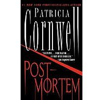 POSTMORTEM  Patricia Cornwell  The first book in the Kay Scarpetta series!    Fantastic series!  I love it!  Been reading them for years!