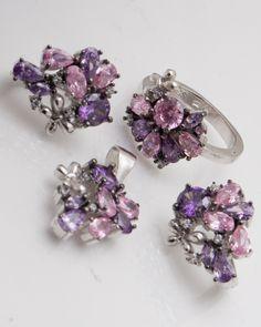 Set argint cod 3-2447, gr14.3 Cod 3, Stud Earrings, Jewelry, Jewlery, Bijoux, Studs, Schmuck, Stud Earring, Jewerly