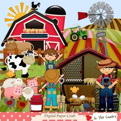 Digital Farm scrapbooking Kit / Farm by DigitalPaperCraft on Etsy, $6.50
