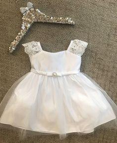 Lace Baptism Dress White Baby Baptism Dress Ivory christening Baby Frock Pattern, Frock Patterns, Baby Girl Dresses, Baby Dress, Flower Girl Dresses, Baby Baptism, Baptism Dress, Dress Pesta, Baby Frocks Designs