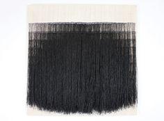 SOFIE DAWO 1973, WAXED THREAD ON COTTON, 69 × 69 CM.
