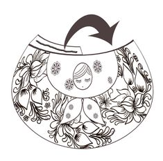 *Bunches of beautiful printables! Available in black line for you to color in or print in color.* Advent Calendar Russian doll coloring - in my jar