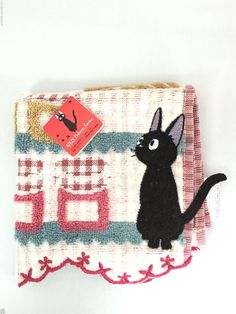 Kiki's Delivery Service JiJi Hand Towel 25 x 25cm B Studio Ghibli Green Japan