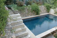 Note ledges/benches/steps in pool...