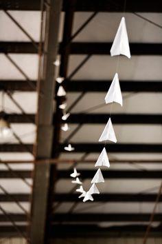 paper plane garland // photo by Yuliya M. Photography