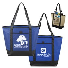 No matter where you're going, head there in style with this 80GSM non-woven 'The City Life' tote bag. This large and economical tote bag features an easy storage main compartment and comes with reinforced shoulder length handles and spacious front pocket with pen loop. Perfect for all promotional and corporate events, tradeshows, groceries, a day at the beach, travel and more! Add your logo to create a terrific corporate gift. Reusable and recyclable!