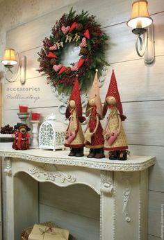 Новогодний рождественский ангел. Ангелы. Новогодний декор камина. Шале. мастер класс по ангелу