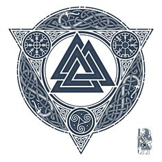 Picture result for valknut tattoo - Tattoo - Tatouage Viking Tattoo Sleeve, Viking Tattoo Symbol, Rune Tattoo, Norse Tattoo, Celtic Tattoos, Viking Tattoos, Sleeve Tattoos, Armor Tattoo, Tattoo Symbols