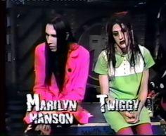Marilyn Manson & Twiggy, 1990's