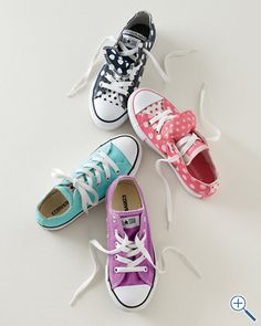 Converse Girls' Lace-Up Sneakers  yes she will :)