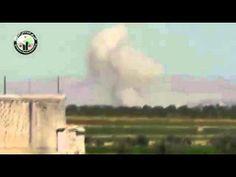 كفرزيتا ــ تصاعد الدخان من المدينة جراء قصف الطيران المروحي 21  5  2014          #AssadWarCrimes #BloodElections