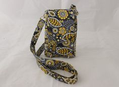 Cell phone bag mobile phone bag READY TO POST by Tracey Lipman, $35.00