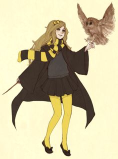 quietly starts playing pottermore again ◡‿◡ no one laugh at my owl omfg they are hard to draw Harry Potter Girl, Harry Potter Puns, Harry Potter Drawings, Harry Potter Anime, Harry Potter Universal, Hogwarts Mystery, Hogwarts Houses, Hufflepuff Wallpaper, Character Art