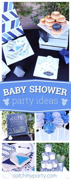 Take a look at this fantastic geometric baby shower. The cookies are adorable!! See more party ideas and share yours at CatchMyParty.com
