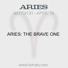 Fact about Aries: Aries: The Brave One #aries, #ariesfact, #zodiac. More info here: www.horozo.com